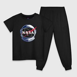 Пижама хлопковая детская NASA цвета черный — фото 1