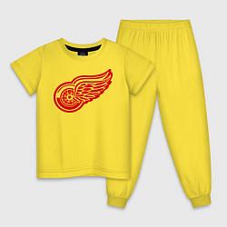 Пижама хлопковая детская Detroit Red Wings: Pavel Datsyuk цвета желтый — фото 1