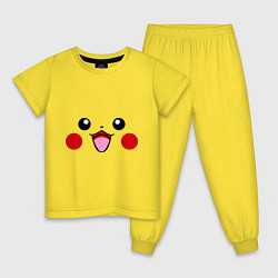 Пижама хлопковая детская Happy Pikachu цвета желтый — фото 1