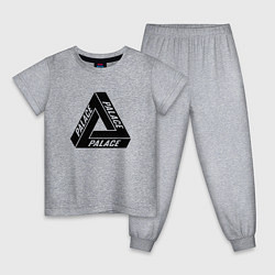 Пижама хлопковая детская Palace Triangle цвета меланж — фото 1