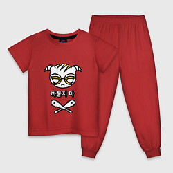 Пижама хлопковая детская R6S DOKKAEBI цвета красный — фото 1