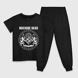 Пижама хлопковая детская Machine Head MCMXCII цвета черный — фото 1