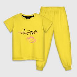 Пижама хлопковая детская Lil Peep цвета желтый — фото 1