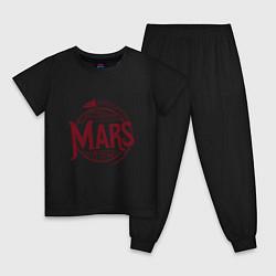 Пижама хлопковая детская Mars цвета черный — фото 1