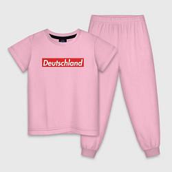 Пижама хлопковая детская Deutschland цвета светло-розовый — фото 1