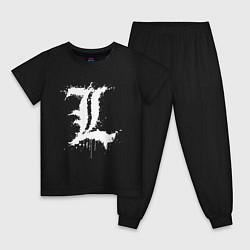 Пижама хлопковая детская DEATH NOTE цвета черный — фото 1