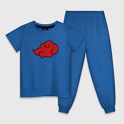 Пижама хлопковая детская AKATSUKI NARUTO цвета синий — фото 1