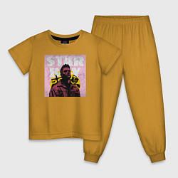 Пижама хлопковая детская STARBOY цвета горчичный — фото 1
