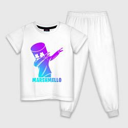 Пижама хлопковая детская MARSHMELLO цвета белый — фото 1