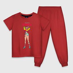 Пижама хлопковая детская Niletto: Любимка цвета красный — фото 1