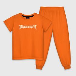 Пижама хлопковая детская Megadeth цвета оранжевый — фото 1
