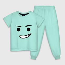 Пижама хлопковая детская Emmet цвета мятный — фото 1