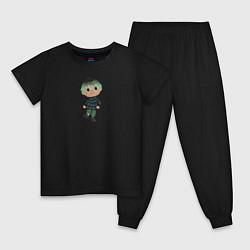 Пижама хлопковая детская MARLOW CROSSING цвета черный — фото 1