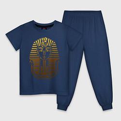 Пижама хлопковая детская Тутанхамон цвета тёмно-синий — фото 1