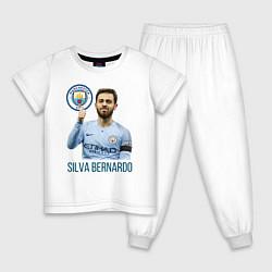 Пижама хлопковая детская Silva Bernardo Манчестер Сити цвета белый — фото 1