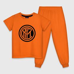 Пижама хлопковая детская INTERNATIONAL INTER MILAN цвета оранжевый — фото 1