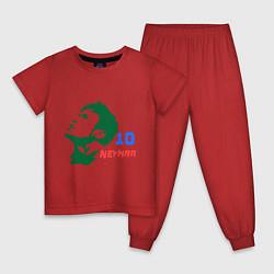 Пижама хлопковая детская Neymar 10 цвета красный — фото 1