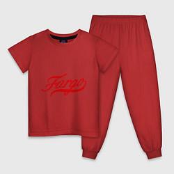 Пижама хлопковая детская Fargo цвета красный — фото 1