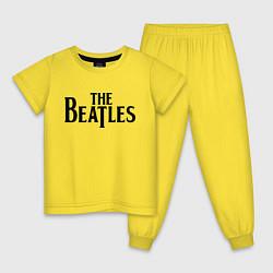 Пижама хлопковая детская The Beatles цвета желтый — фото 1