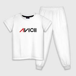 Пижама хлопковая детская Avicii цвета белый — фото 1