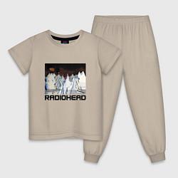 Пижама хлопковая детская Radiohead Winter цвета миндальный — фото 1