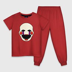 Пижама хлопковая детская Puppet FNAF Марионетка цвета красный — фото 1