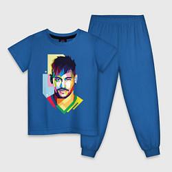 Пижама хлопковая детская Neymar: fun-art цвета синий — фото 1