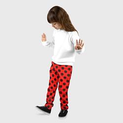 Брюки детские Леди Баг: узор цвета 3D-принт — фото 2