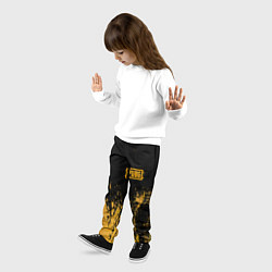 Брюки детские PUBG: Yellow Colour цвета 3D — фото 2