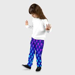Брюки детские Billie Eilish: Violet Pattern цвета 3D — фото 2