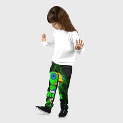 Детские 3D-штаны на резинке с принтом BRAWL STARS LEON, цвет: 3D, артикул: 10202004704927 — фото 2