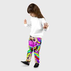 Брюки детские 6IX9INE цвета 3D-принт — фото 2