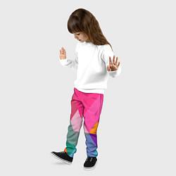 Брюки детские Разноцветные полигоны цвета 3D — фото 2