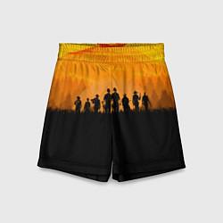 Шорты детские Red Dead Redemption: Orange Sun цвета 3D-принт — фото 1