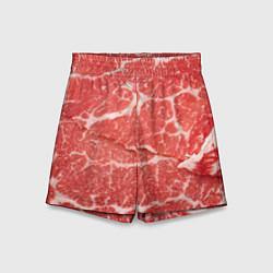 Шорты детские Кусок мяса цвета 3D — фото 1