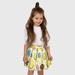 Юбка-солнце для девочки Сладкие пончики цвета 3D — фото 2
