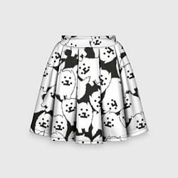 Юбка-солнце для девочки Undertale Annoying dog цвета 3D — фото 1