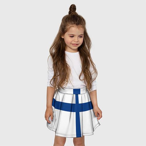 Детская юбка-солнце Флаг Финляндии / 3D-принт – фото 3
