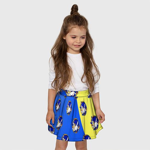 Детская юбка-солнце Sonic - Соник / 3D-принт – фото 3