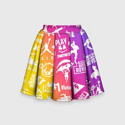 Юбка-солнце для девочки FORTNITE PARTY EVENT цвета 3D — фото 1