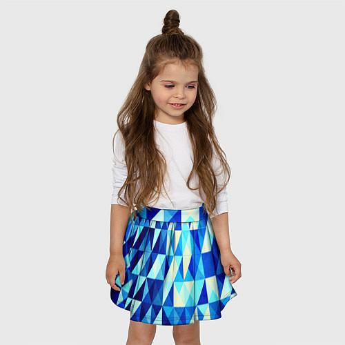 Детская юбка-солнце Синяя геометрия / 3D – фото 3