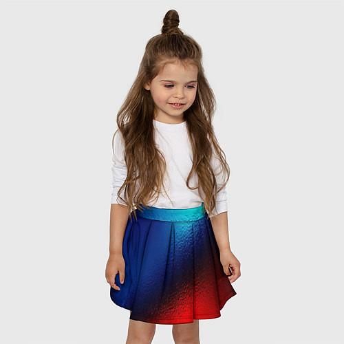 Детская юбка-солнце Синий и красный / 3D – фото 3