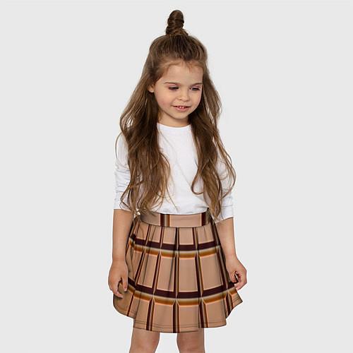 Детская юбка-солнце Шоколад / 3D – фото 3