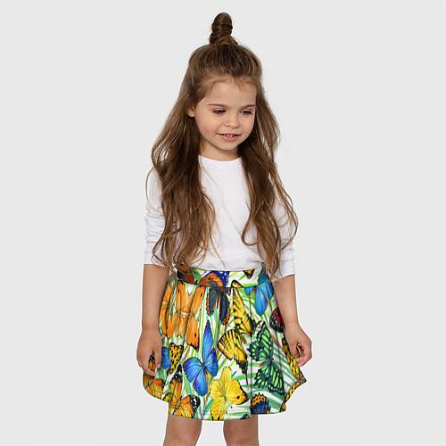 Детская юбка-солнце Тропические бабочки / 3D – фото 3
