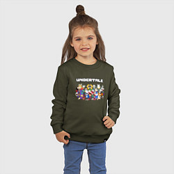 Свитшот хлопковый детский UNDERTALE цвета хаки — фото 2