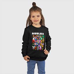 Свитшот хлопковый детский ROBLOX PIGGY цвета черный — фото 2