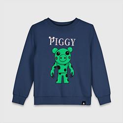 Свитшот хлопковый детский ROBLOX PIGGY DINO цвета тёмно-синий — фото 1
