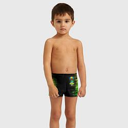 Плавки для мальчика Бравл Старс Леон цвета 3D — фото 2