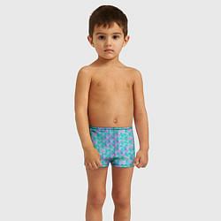 Плавки для мальчика Чешуя Хвост русалки цвета 3D — фото 2