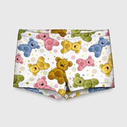 Плавки для мальчика Любимые медвежата цвета 3D — фото 1